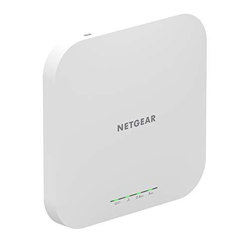 NETGEAR WAX610 WiFi 6 WLAN Access Point (AX1800 Speed Dual-Band Mesh, WPA3, 802.11ax, 2.5G LAN, Lokales oder Insight Remote Management, PoE+ powered - Netzteil optional)