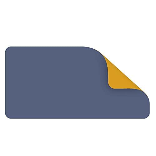 Alfombra de escritorio Pad de ratón de doble cara impermeable portátil de escritorio grande computadora portátil portátil alfombrilla de mousepad Teclado Tabla cubierta 80x40cm ( Color : Blue Yellow )