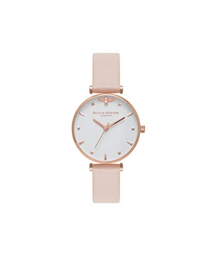 Olivia Burton Damen Analog Quarz Uhr mit Leder Armband OB16AM95