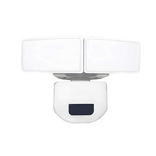 UISEBRT 30W LED Strahler mit Einstellbarem Bewegungsmelder außen- Dual-Kopf LED Fluter 180° Erfassungswinkel, IP67 Wasserdicht, 2200LM, LED-Sicherheitslicht für Hof, Garten, Deck, Garage