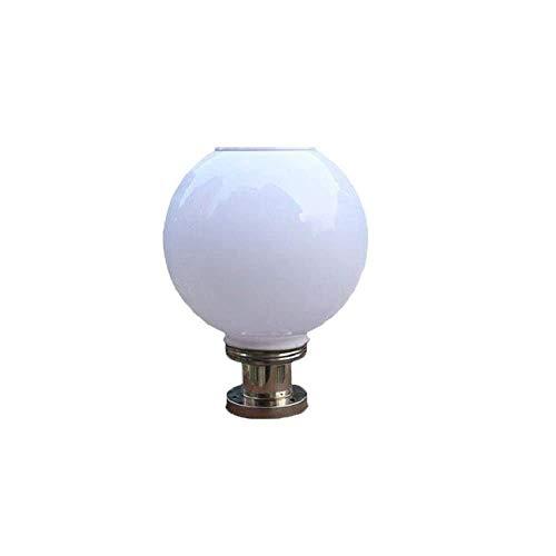 Solar Power Column Light Classic Outdoor Solar Energy Saving Pillar Light Spherical Post Light Round Ball Road Light Garden Villa Patio Landscape Lamp Post Floor Column Lamps Street Lantern Table Lamp