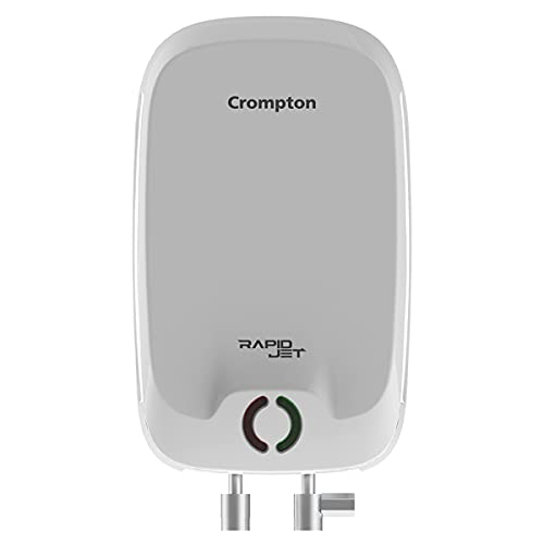 Crompton Rapid Jet 3-L Instant Water Heater with Advanced 4 level Safety (White)