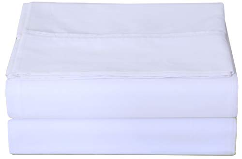 Zoyer Microfiber Flat Sheet - 1 Pack - Top Sheet Only Soft Brushed Fabric - Shrinkage & Fade Resistant Flat Bed Sheet (Twin, White)