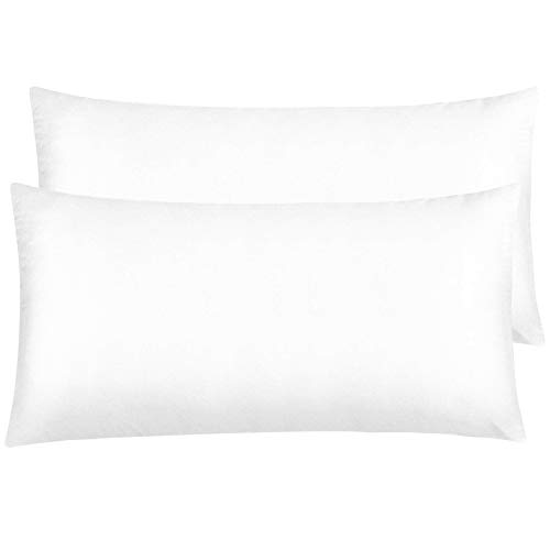 NTBAY Zippered Satin Pillowcases, Super Soft and Luxury King Pillow Cases Set of 2, Pure White