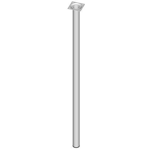 Element System 4 Stück Stahlrohrfüße rund, Tischbeine, Möbelfüße inklusive Anschraubplatte, Länge 75 cm, Durchmesser 30 mm, 4 Farben, 11 Abmessungen, weiß, 11100-00082
