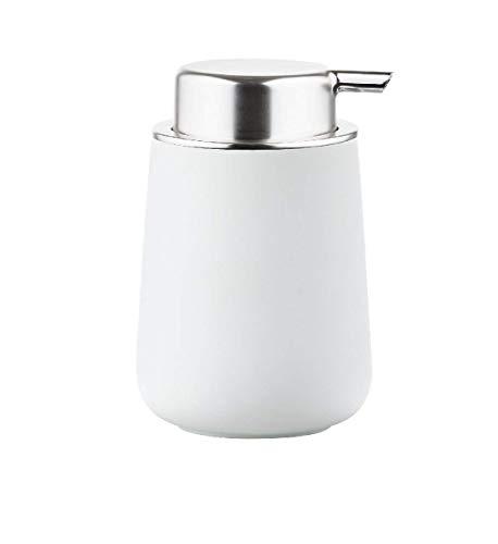 Zone Denmark Nova Seifenspender für Flüssigseife, Porzellan mit Soft Touch-Beschichtung, weiß