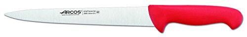 Arcos Serie 2900, Cuchillo Trinchante, Hoja de Acero Inoxidable Nitrum de 190 mm, Mango inyectado en Polipropileno Color Rojo