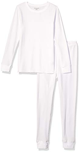 Amazon Essentials Women's Thermal Long Underwear Set, White, XX-Large