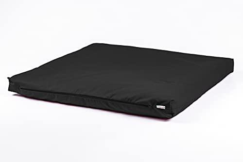 STAYOGA Zabuton de méditation. Conçu pour être utilisé avec Un Coussin de méditation pour fournir Une Surface Confortable pour Les Jambes et Les Genoux. (Noire)