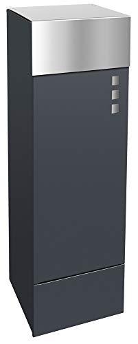 Frabox® Design Paketkasten NAMUR anthrazitgrau RAL 7016 - jederzeit bequem Pakete empfangen!