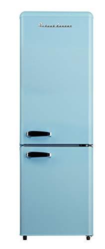 Nevera y congelador estilo retro de Schaub Lorenz SL KG250.4 RT LB, A++, en azul brillante