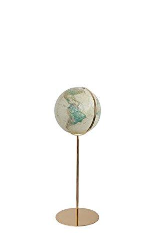 Columbus ROYAL Leuchtglobus Standmodell Regent: handkaschiertes Kartenbild auf Acrylglaskugel, Kugeldurchmesser 40 cm, OID-Code,Stativ und Meridian aus hochglänzendem Messing