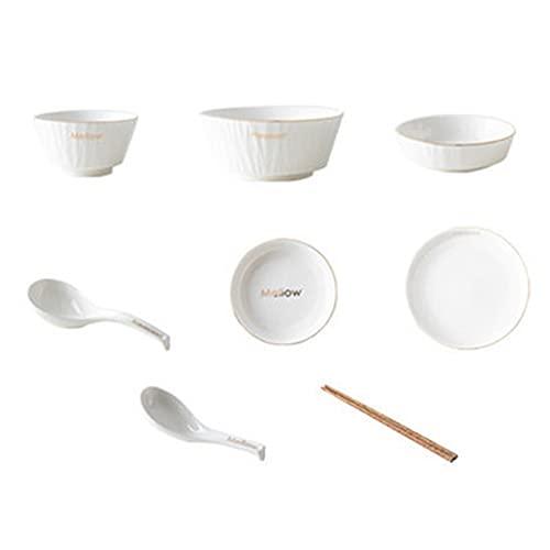 Vajilla Completa De 12 Piezas | Platos, Cuencos | Vajilla De Porcelana | Juego De Servicio Para 2 | Apto Para Microondas | Cocina Y Comedor