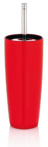 Kela 21751 set porte-brosse WC, céramique, rouge, 'Atlanta'
