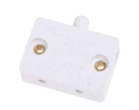 Generico Interruptor normalmente cerrado para puerta del armario, puertas correderas, color blanco