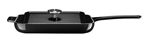 KitchenAid grillpan met pers, zwart, gietijzer, 28,5 cm