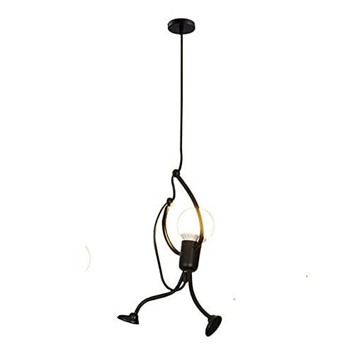 Moye Lámpara Colgante Vintage Hombre Araña Lámpara Colgante Cocina Industrial Sala de Estar Lámpara de Noche Luz de Techo humanoide