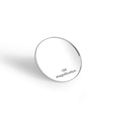 Auxmir Kosmetikspiegl, kleine 10X Vergrößerungsspiegel Φ7,5cm mit 2 kleinen Saugnäpfe