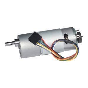 DC Gear Motor with Encoder 12V Low Speed 18 RPM Metal Gearmotor with Channel Encoder for DIY Engine Toy