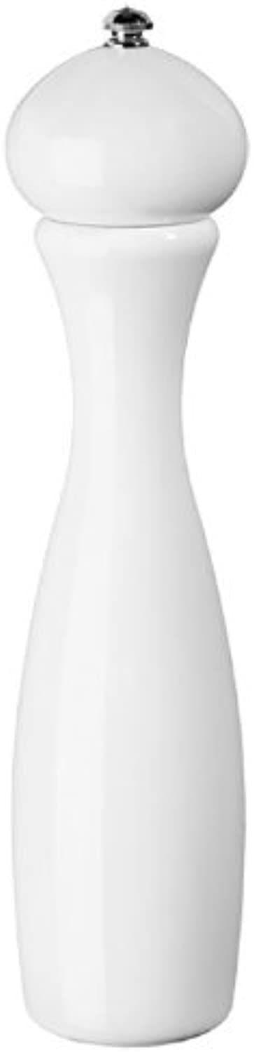 Fletchers' Mill Marsala Collection Pepper Mill, White - 12 Inch, Adjustable Coarseness Fine to Coarse, MADE IN U.S.A.