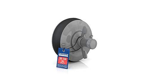 Schnellverschlussstopfen CSV 100 PVC; (95-110mm), bis 0,5 bar, Länge: 100mm, EPDM/PVC