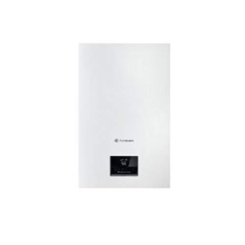 Saunier Duval Caldera a gas de condensación mixta de la serie Hermann MicraCom Condens 24, 24 kW, para calefacción, ACS, clase A, 27 x 40 x 62, 3 centímetros (referencia: 12026120), blanco, estándar