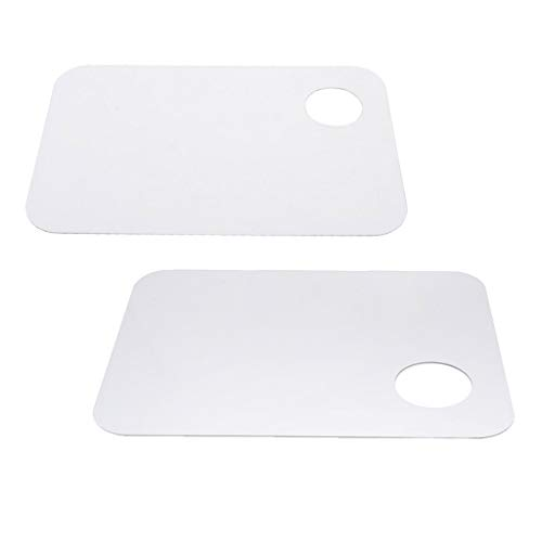 menolana 2X Oval/Rectangle Clear Paint Palette Thumb Hole Color Mixing Tray for Painting