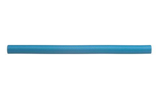 Eurostil 12 pcs élastique de cheveux bigoudis 25 cm Ø 1.4 cm bleu