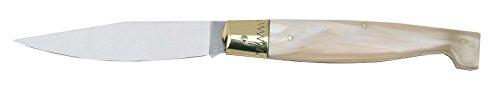 Ausonia - Coltello da tasca modello Pattada manico corno chiaro Cm 26