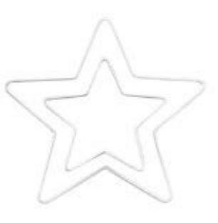 Glorex Metallstern 25 cm, Weiß