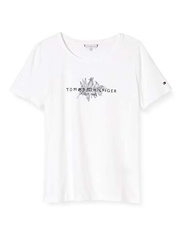 Tommy Hilfiger Damen Babette Regular C-nk Top Ss Hemd, Weiß (White), XXX-Large