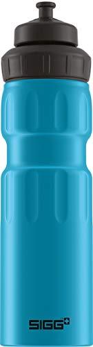 SIGG WMB Sports Blue Touch Sport Trinkflasche, (0,75 L), schadstofffreie und auslaufsichere Trinkflasche, federleichte Trinkflasche aus Aluminium