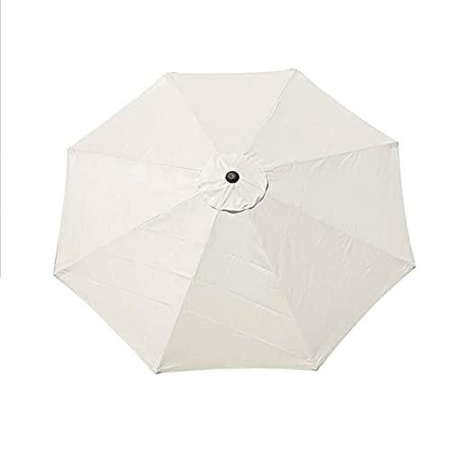 XINdream - Telo di ricambio per ombrellone da giardino, 3 m, con 8 costole, colore bianco, per esterni, adatto solo a tettoia