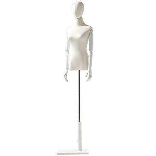 LXFA Maniqui Costura Modista Busto Maniquí de Mujer Adulta con Forma de Busto Corporal Maniquí de Modista de Talla Grande con Cabeza, Escaparate de la Tienda (Color : White, Size : Small)