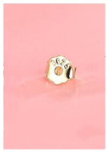 Cómodo 10 unids 4x4.5mm 925 Pendientes de mariposa de plata Ajuste de espalda Pendientes Pendientes Pendientes Tapón Tapón DIY Pendiente Fashion Jewelry Hallazgos para hacer joyas DIY ( Color : Gold )