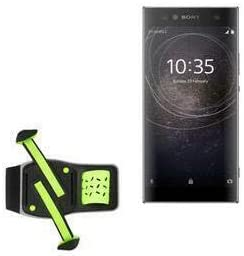 Holster for Sony Xperia XA2 (Holster by BoxWave) - FlexSport Armband, Adjustable Armband for Workout and Running for Sony Xperia XA2 - Stark Green