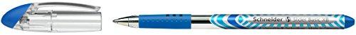 Schneider schrijfgerei balpen Veer: XB. blauw/schachtkleur: transparant