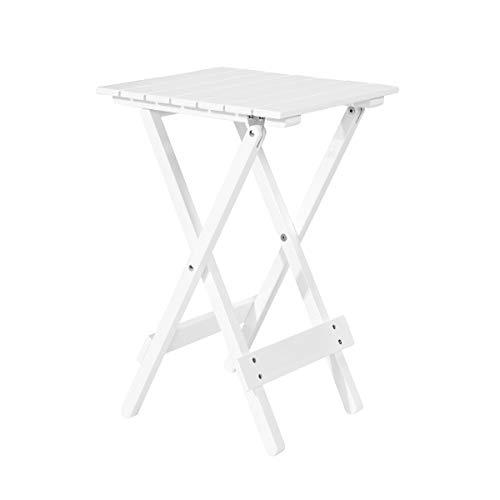 Butlers Lodge - Mini-Klapptisch - weißer Tisch für Garten und Balkon - aus FSC-Akazienholz