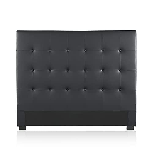 INTENSE DECO Tête de lit capitonnée Premium 140cm Noir