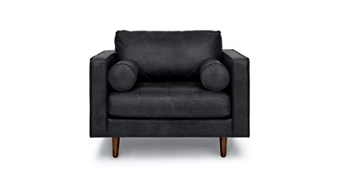 Aart Store 1 Seater Tufted Mid-Century Modern Leather Bench Seat Sofa Set