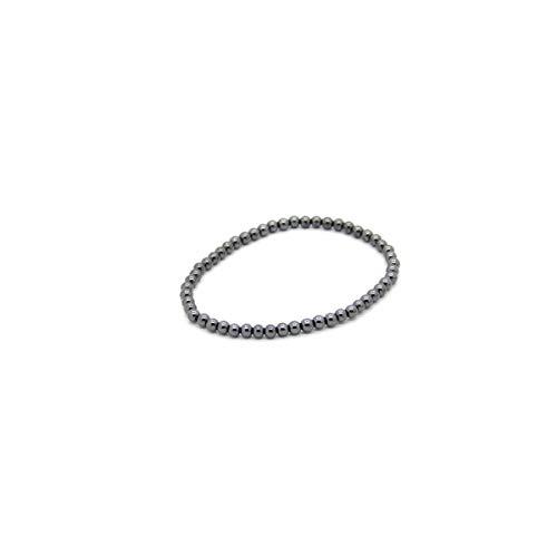 Mineral Import - Pulsera de Hematite Bola Lisa 4mm - 3512VC