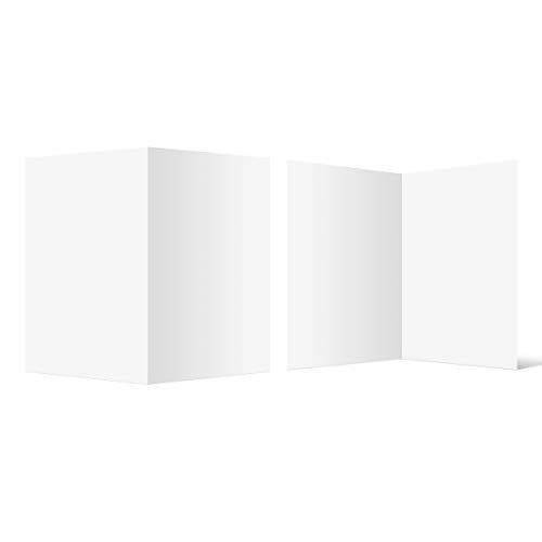 50 Blanko Klappkarten hoch DIN A6 148 x 105 mm Bilderdruckpapier matt 300 g/qm Set Papier wählbar