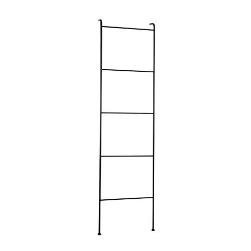House of Seasons Decoratie Ladder zwart: 46 x 12 x 173 cm