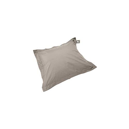 Solys Housse Vide Pouf XL imperméable Taupe Rectangulaire 140 x 120 cm Polyester 1 Place XL