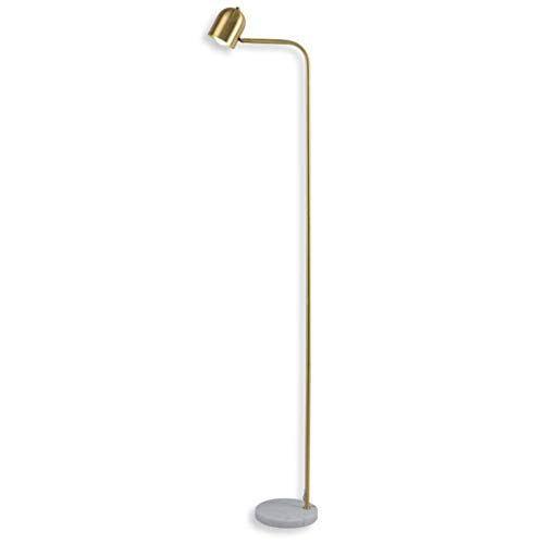 UWY Lámpara de pie Lámpara de pie Arte de luz Moderna Revestimiento de ángulo Ajustable Base de mármol de latón Lámpara de pie 1.7M con Interruptor de pie para Restaurante Sala de Estar Dormitor