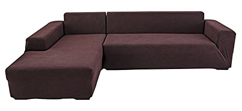 BEYRFCTA Funda de sofá antideslizante, One-Piece Sofa Cover, Elastic Sofa Cover, Combination Sofa One Sofa Cover, Suitable for Children, Office-Brown_Three People 190 x 230