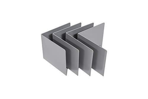 Gigapur 4 er-Set 29647 Matratzenhalter für Kopf-und Fußende, Stahl pulverbeschichtet, Breite 130mm Höhe 100mm, Materialstärke 2mm, 130x130x100x2 mm