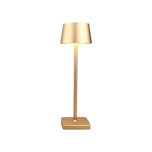 Wireless Aluminium Alloy Desk Lamp, USB Charging LED Table Lamp, High Capacity Battery, Waterproof Night Table Desk Lamp for Living Room Bedroom