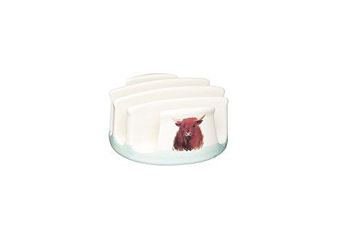 Kitchen Craft Apple Farm handgefertigter Toastständer, Keramik, Mehrfarbig, 10.5 x 9.7 x 5.3 cm