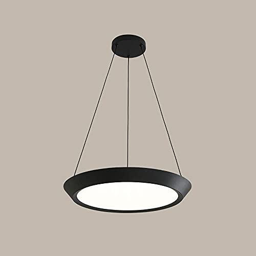 JIANAND Linterna de Metal Industrial Lámpara Colgante de Techo Lámpara de acrílico Pantalla Lámpara Colgante LED Regulable Montaje Semi Empotrado Lámpara Colgante Kit Ajustable Luminaria Oficina Sala